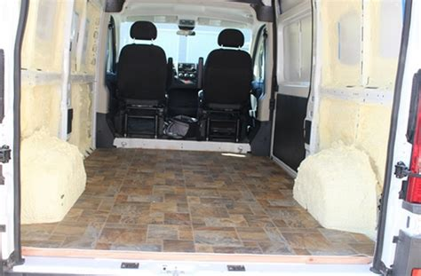 promaster camper van conversion flooring build