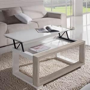Table Chene Blanchi : table basse chene blanchi ~ Teatrodelosmanantiales.com Idées de Décoration