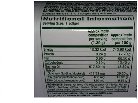 compare buy amway nutrilite salmon omega   tab