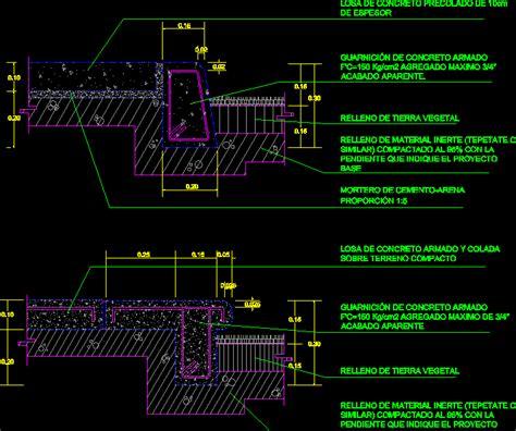 concrete sidewalk dwg block  autocad designs cad