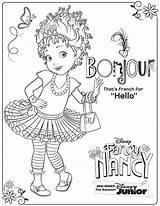 Nancy Fancy Coloring Pages Disney Activity Junior Printable Sheet Printables Clancy Bonjour Sheets Party Characters 20th Books Volume Coming Dvd sketch template