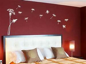 Red bedroom wall painting design ideas wall mural for How to paint a bedroom wall