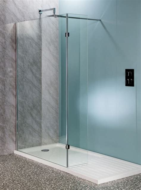 shower flipper panel mm mm glass  easy clean
