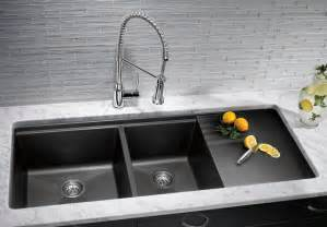 different types of kitchen faucets kitchen sinks granite composite offers superior durability