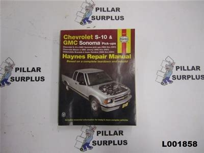 download car manuals pdf free 1994 gmc sonoma club coupe security system haynes repair book chevrolet s 10 gmc sonoma pick ups 24071
