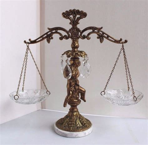 marble l base antique antique scales of justice with crystal glass grapes