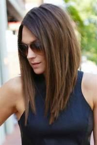 Carré Mi Long Plongeant : coiffure carr plongeant long et lisse carr plongeant ~ Dallasstarsshop.com Idées de Décoration
