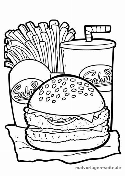 Burger Hamburger Malvorlage Malvorlagen Colorare Mewarnai Coloriage