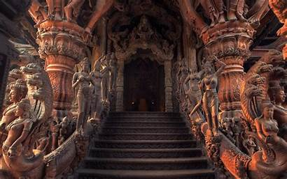 India Architecture Dragon Door Staircase Sculpture Hdr