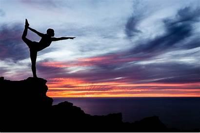 Yoga Sunset Ocean Wallpapers Woman 1080p Silhouette