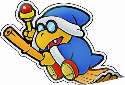 Kamek Paper Magikoopa Mario Super Luigi Jam
