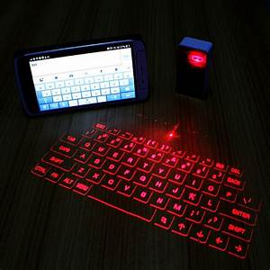 Bluetooth Virtual Keyboard - Silver - JakartaNotebook.com