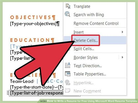 how to write a resume for free using microsoft word resume