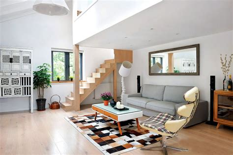 Decorating Ideas For Living Room With Stairs by Minimalist Style Living Room And Stairs Design