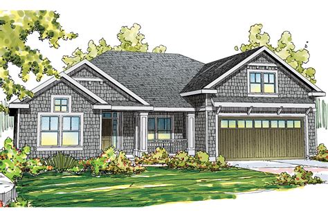 Craftsman House Plan With L-shaped Porch