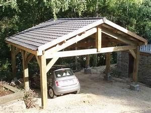 Garage 2 Voitures : carport 2 voitures bois recherche google carport ~ Melissatoandfro.com Idées de Décoration