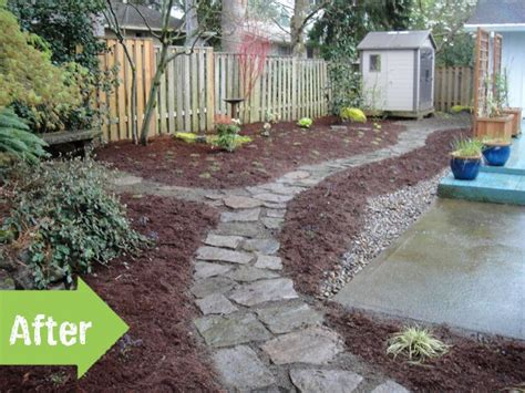 before after a muddy backyard transformed pith vigor