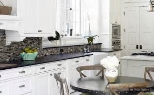 kitchen backsplash with white cabinets black granite white cabinet glass tile idea backsplash com