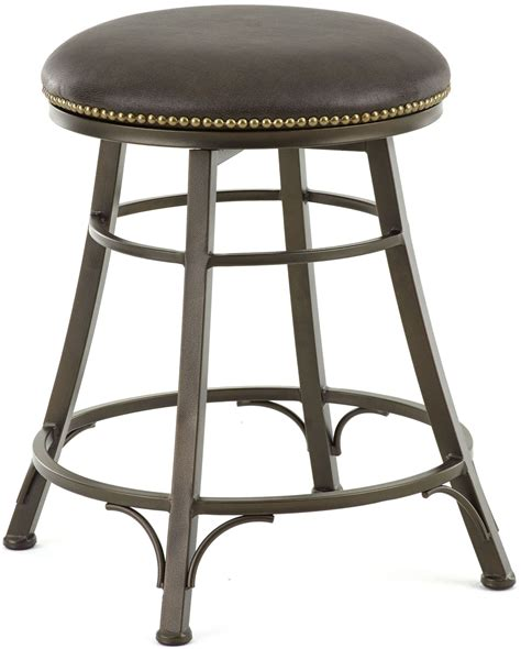 leather bar stool backless bali bonded leather backless swivel counter stool from 6885