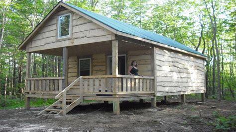 build small log cabin build house minecraft small camp plans treesranchcom