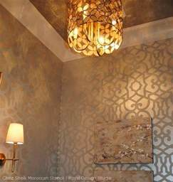 Faux Painting Ideas For Bathroom Stencil Ideas For Stenciling With Metallic Paint And Metal Leaf Royal Design Studio Stencils