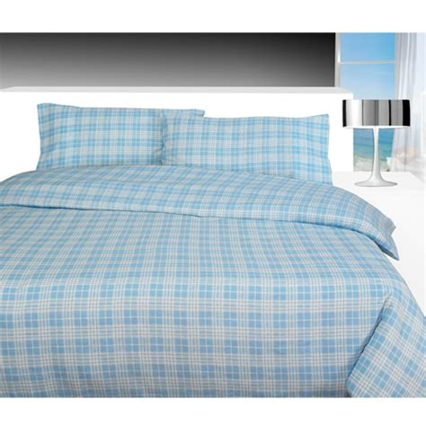 Check Duvet Cover by Check Blue Flannelette Duvet Cover Tony S Textiles