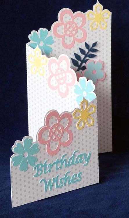 free birthday card template cricut shirley s cards freebie z shaped card svg files ideas