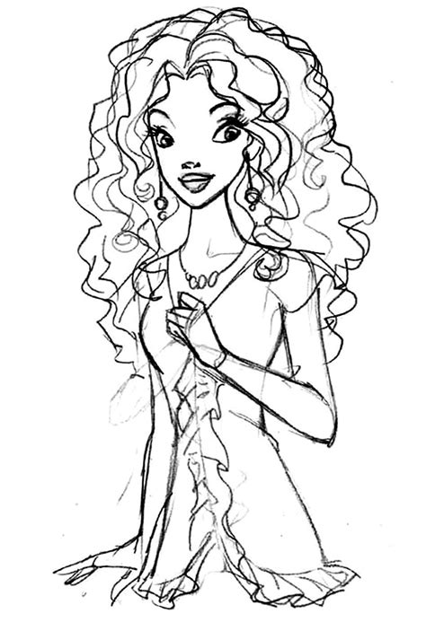 BARBIE COLORING PAGES: BLACK - OR ETHNIC - BARBIE COLORING