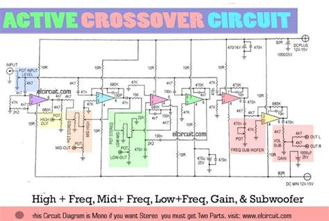 Active Crossover Circuit Uses Audio