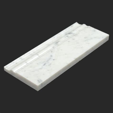 bianco carrara white marble base moulding modern