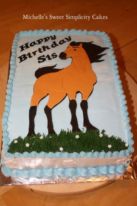 spirit horse birthday cake cake  michelle cakesdecor