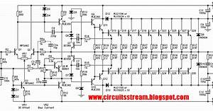 Schematic Diagram  Build A 3000w Stereo Power Amplifier