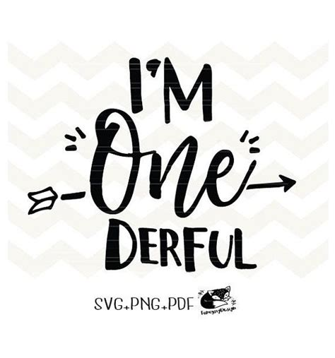Download your free svg cut file and create your personal diy project with these beautiful quotes or designs. I'm One Derful svg file , First Birthday 1st birthday ...