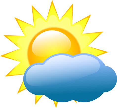 weather symbols cloudy sunny clip clipart