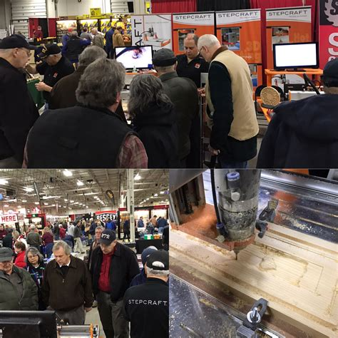 lots  interest   stepcraft booth   woodworking