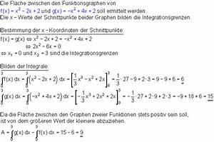 Integrale Berechnen Aufgaben : fl chen zwischen funktionsgraphen mathe brinkmann ~ Themetempest.com Abrechnung