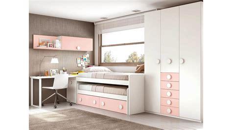 lit gigogne avec bureau chambre fille ado avec un lit pratique glicerio