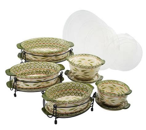 qvc kitchen clearance temp tations world 13 pc lid it oven to table set