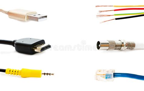 Different Types Of Adapters For Connection Stock Photo