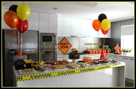 construction truck themed 1st birthday party planning ideas lime mortar kids construction party