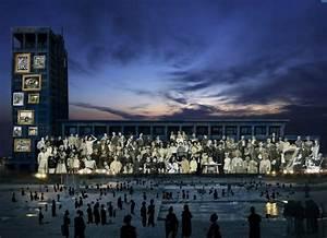 Piscine Le Havre : hotel de ville du havre projection sur de personnages ~ Nature-et-papiers.com Idées de Décoration