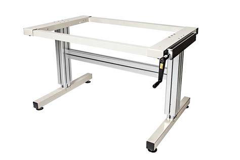 adjustable desk legs 2 leg crank adjustable height work table ergosource