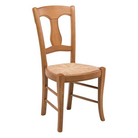la chaise de bois chaise rustique en paille de seigle et chêne massif 263
