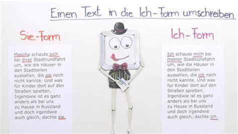 einen text  die ich form umschreiben    minuten
