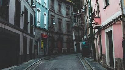 Street Turn Spain 4k Cudillero Buildings Background