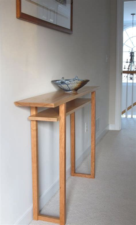 Slim Entryway Table by Classic Console Table Narrow Wood Table For