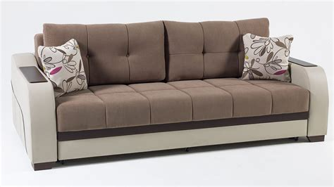 Sofa Bed by Ultra Optimum Brown Convertible Sofa Bed By Istikbal Sunset