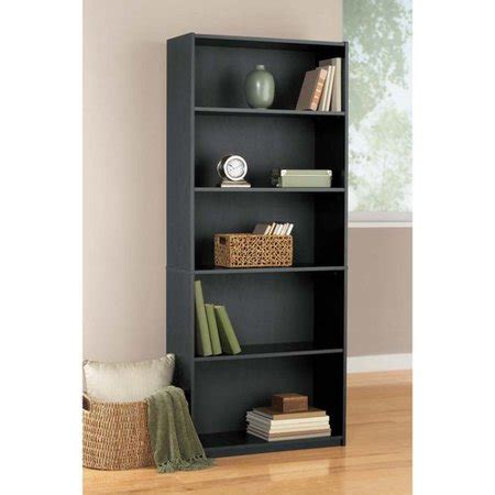 5 Shelf Bookcase by Mainstays 5 Shelf Bookcase Black Walmart