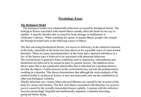 Apa Psychology Paper Exles by Psychology Essay In Apa Format