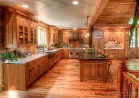 home floor and kitchens log home kitchens pictures design ideas 4280